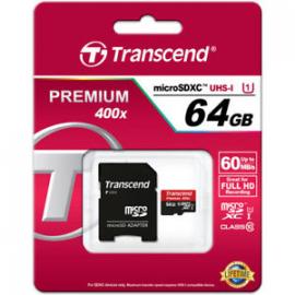 MicroSDXC 64 Go Transcend premium 400x