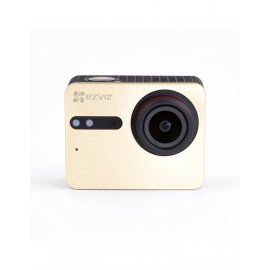 "CAMERA SPORTIVE EZVIZ S5 PLUS 4K/Ecran 2.5 ""/Or/Stabilisa/Etanch"