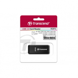 Transcend Lecteur de cartes SD/MicroSD USB 3.0 Noir TS-RDF5K